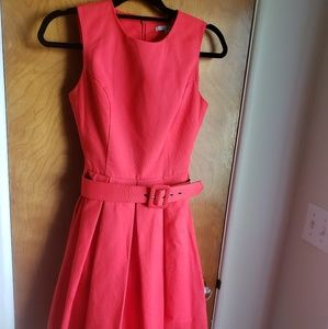 Red size 2 belted dress